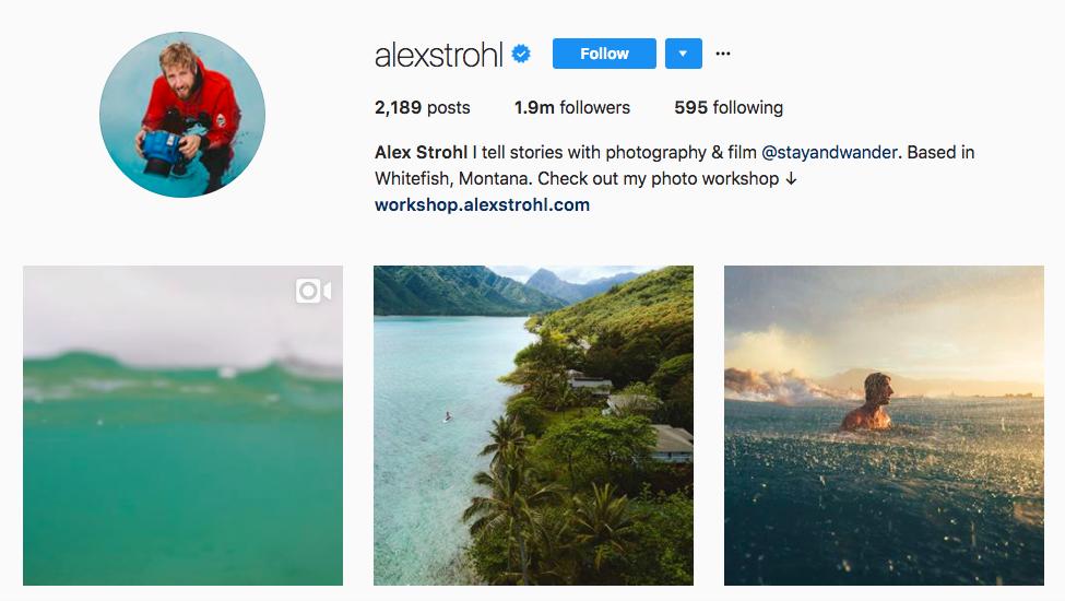 Alex Strohl best influencers 2017