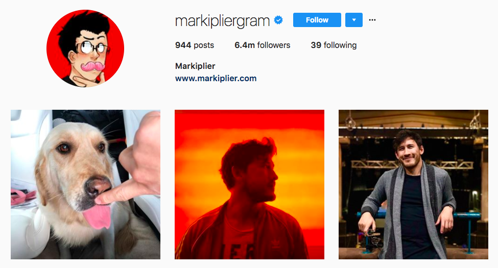 Markiplier best influencers 2017