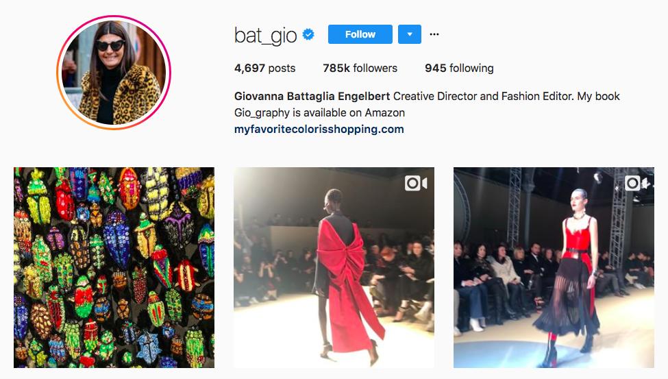 Giovanna Battaglia Engelbert top fashion Instagram Influencer