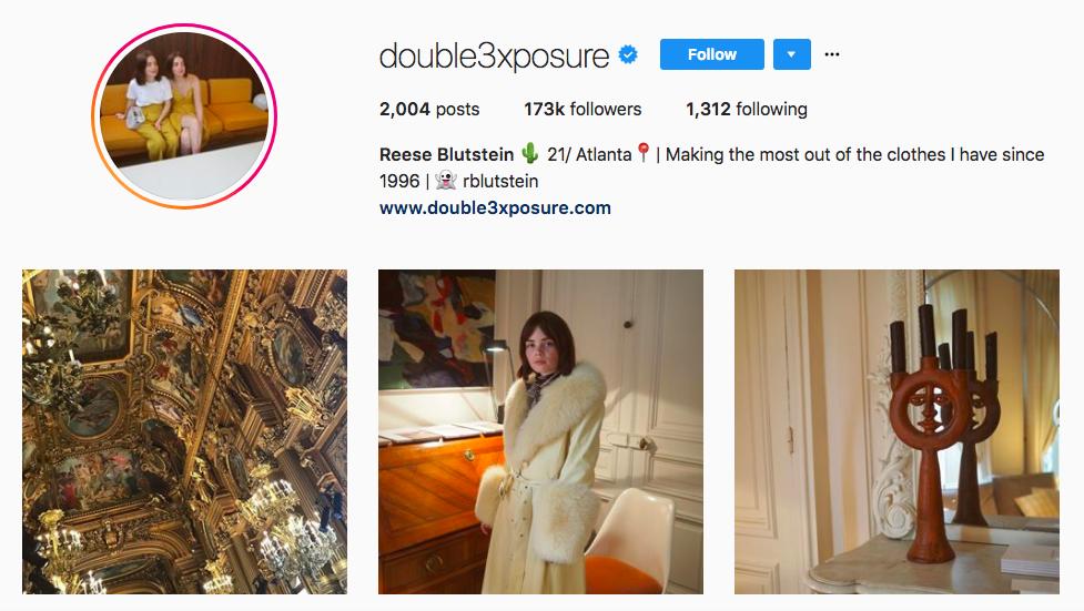 Reese Blutstein top fashion Instagram influencer