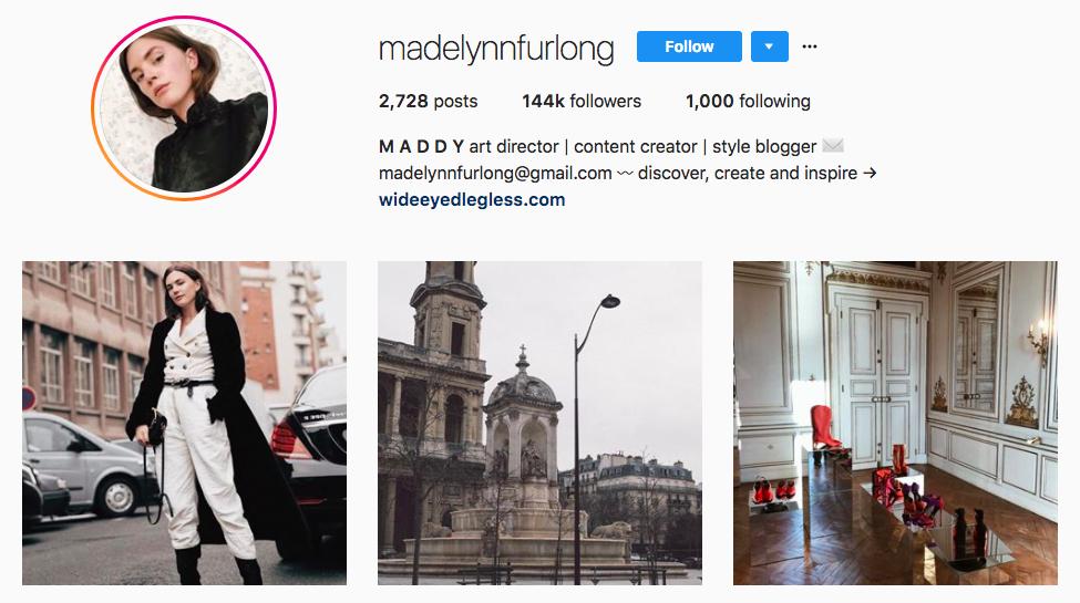 Madelynn Furlong top fashion Instagram influencer