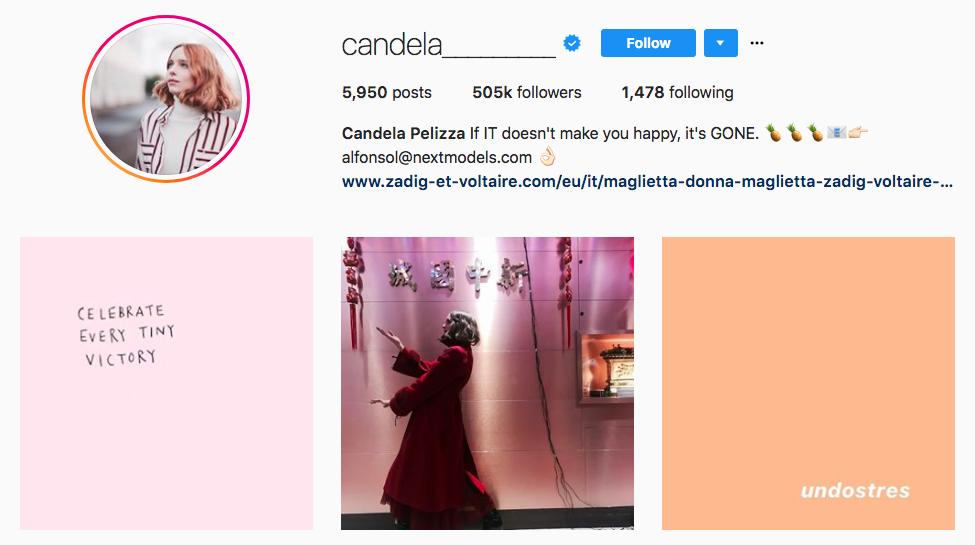 Candela Pelizza top fashion Instagram Influencer