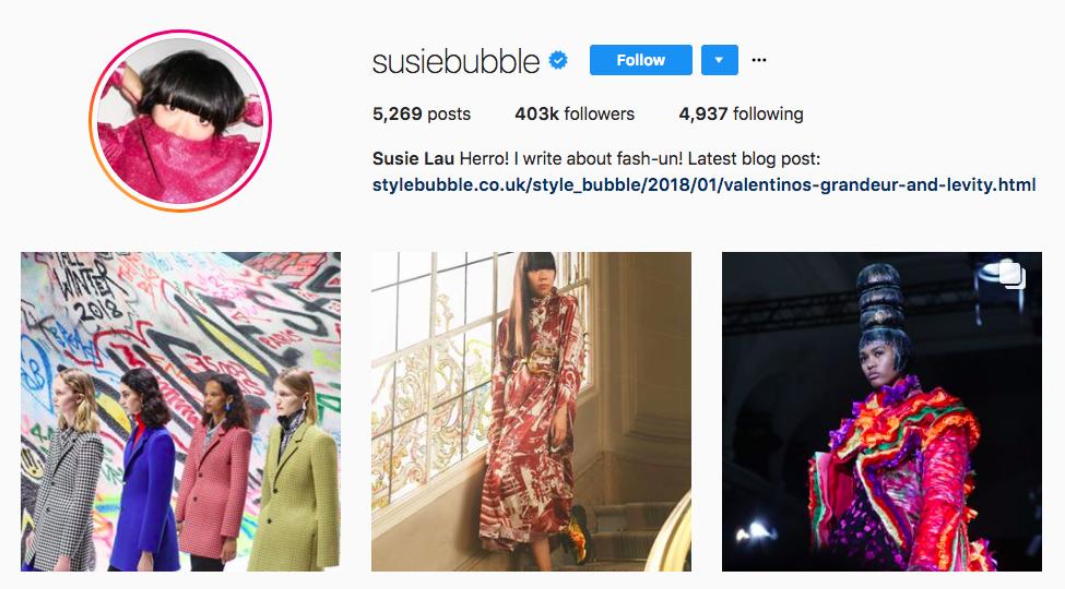 Susanna Lau top fashion Instagram Influencer