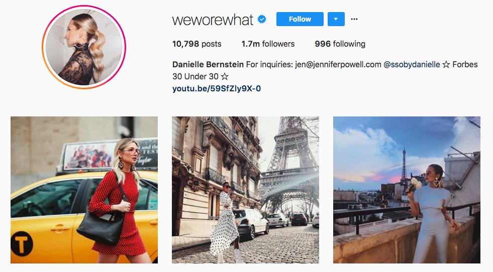Danielle Bernstein Top Fashion Instagram Influencers