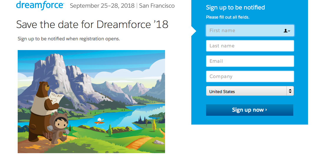 Dreamforce 2018 Marketing Conference