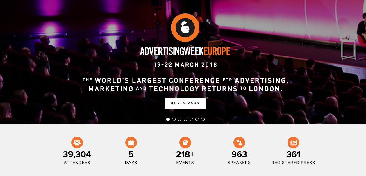 Advertising Week Europe 2018 Marketing Conferences