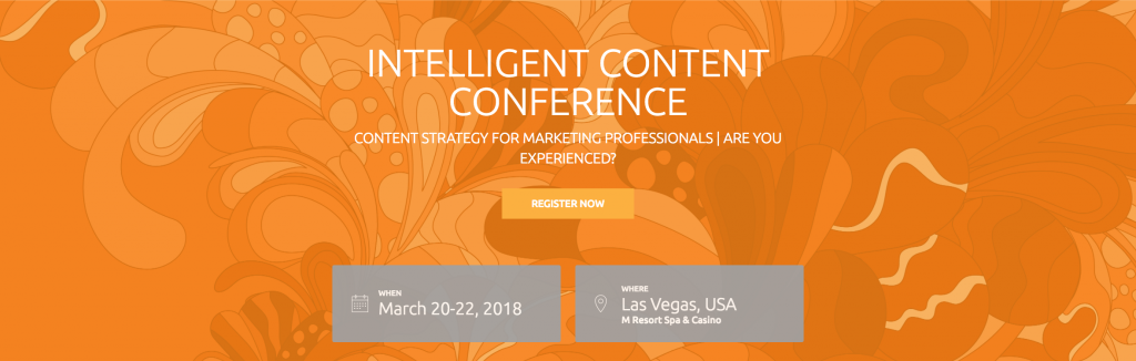 Intelligent Content Conference Top 2018 Content Marketing Events