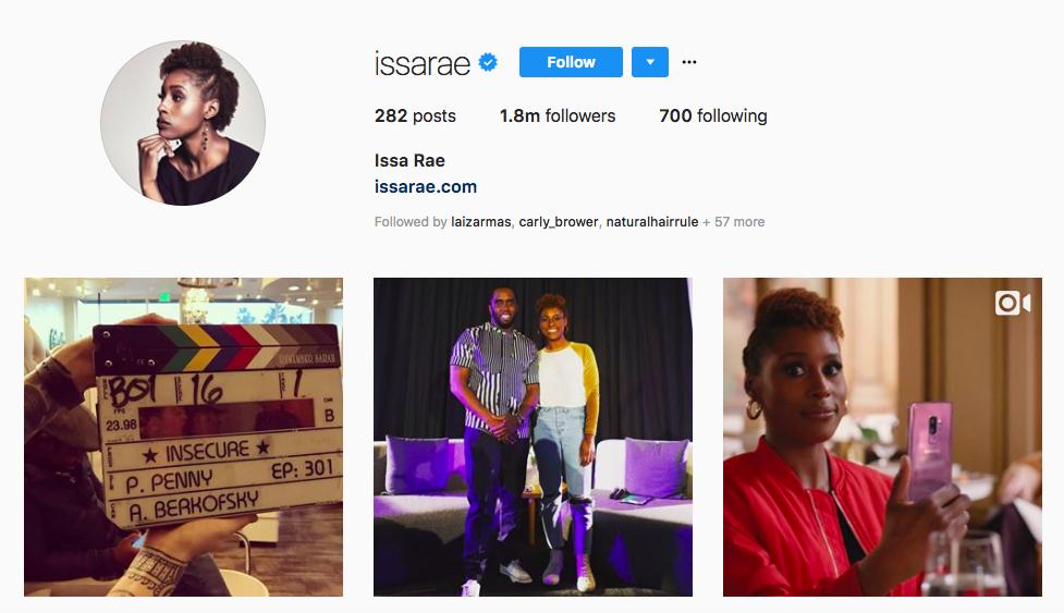Issa Rae top female social media influencers