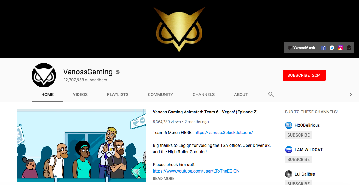 VanossGaming Top Male Social Media Influencers