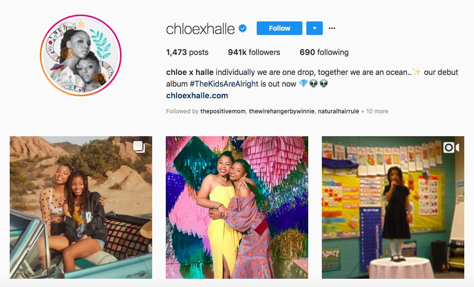 chloe x halle top african american social media influencers
