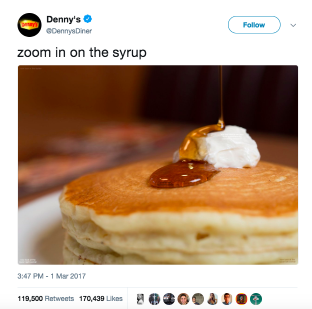 Denny's Food Content Marketing