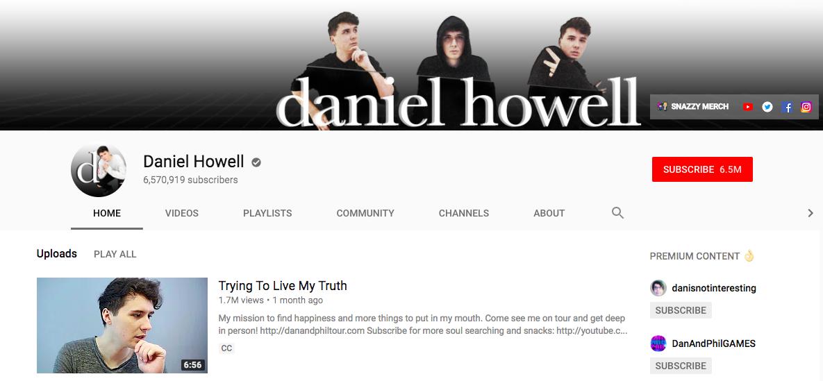 Daniel Howell Top Entertainment Influencer