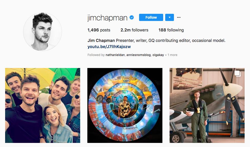 Jim Chapman top UK influencers