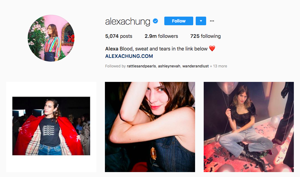 alexa chung top UK influencers