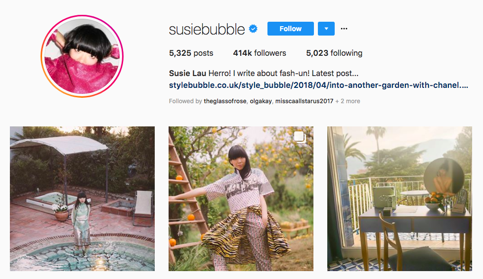 Susie Lau top UK influencers