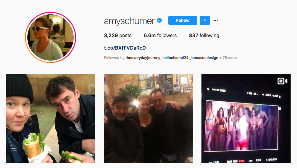 Amy Schumer Top Entertainment Influencers