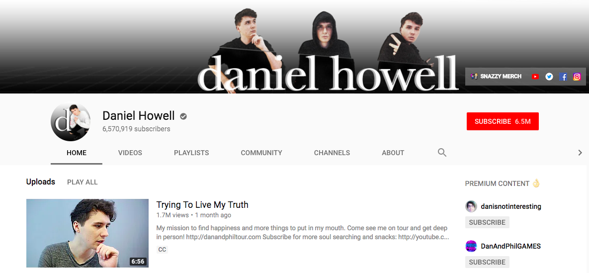 Daniel Howell Top Entertainment Influencer