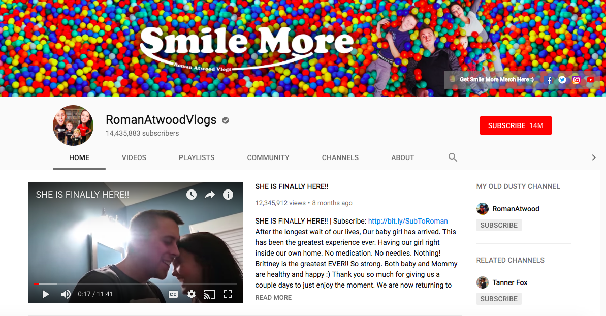 Roman Atwood Top Entertainment Influencers
