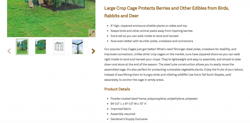 Gardener's SEO Product Descriptions