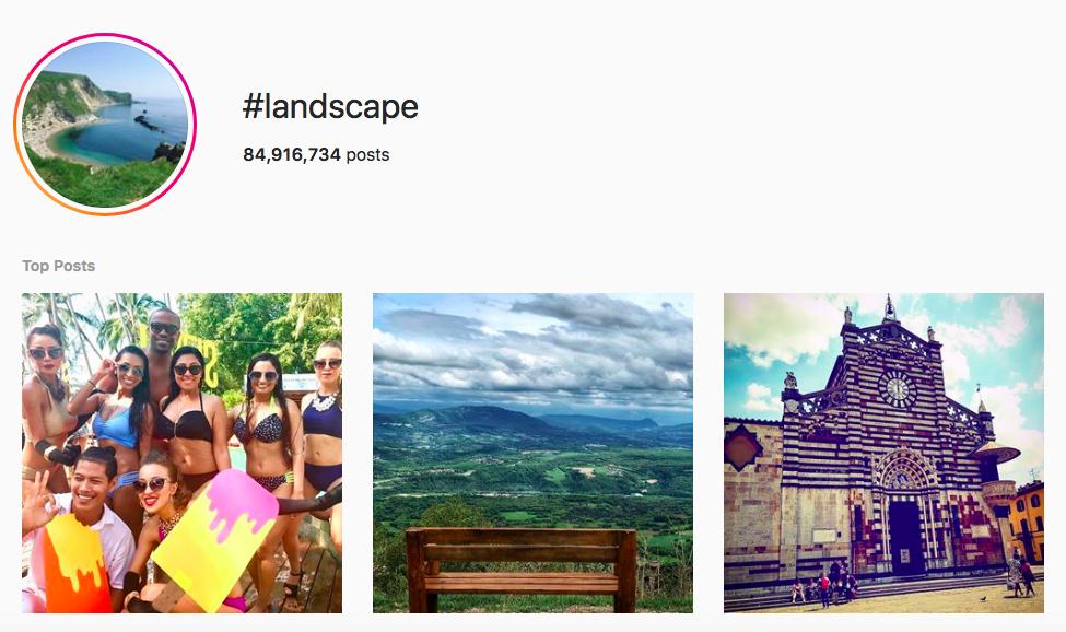 best outdoor instagram hashtags landscape