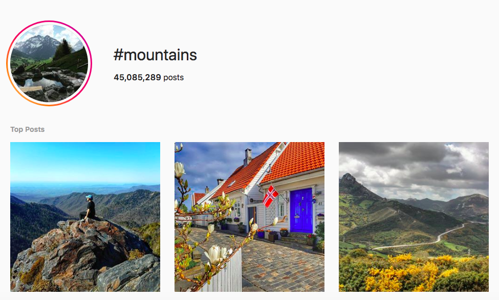 best outdoor instagram hashtags #mountains