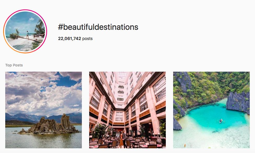 best outdoor instagram hashtags #beautifuldestinations