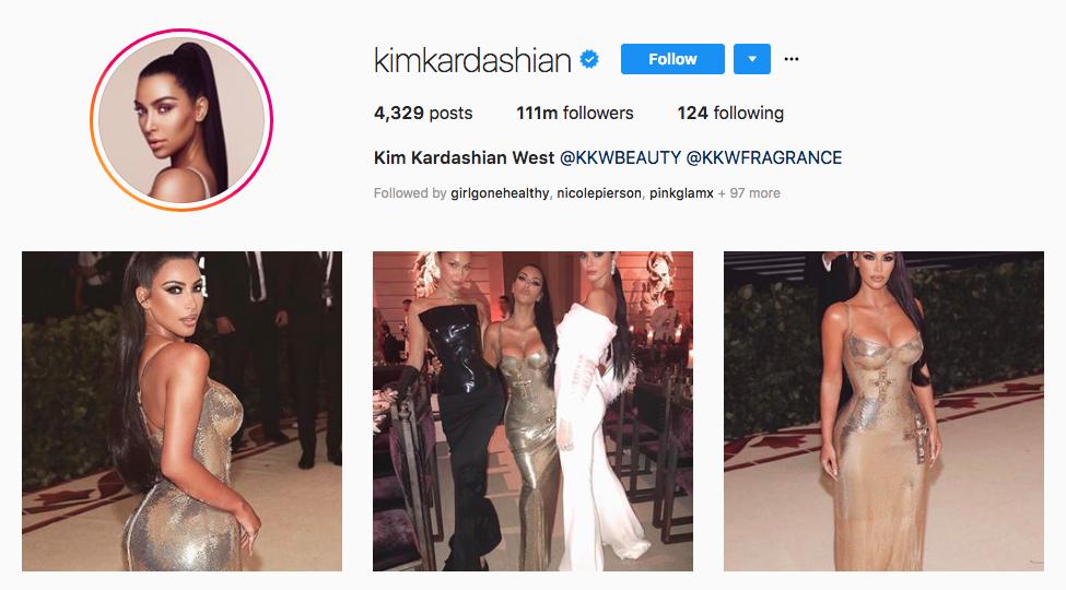 Kim Kardashian Top Online Influencers