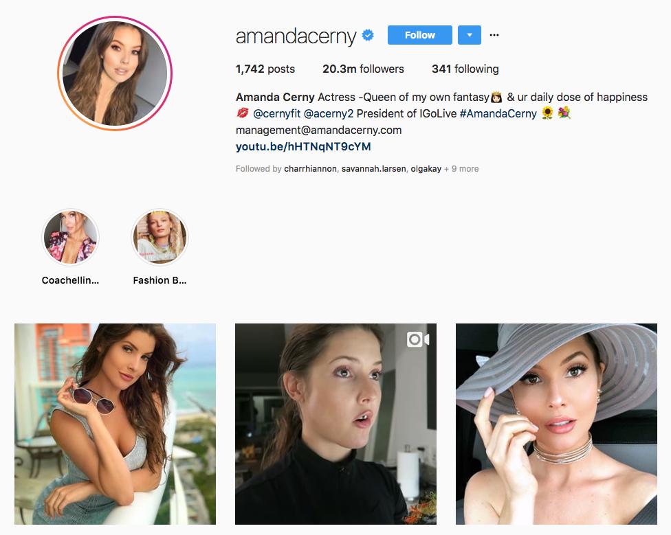 Amanda Cerny top online influencers