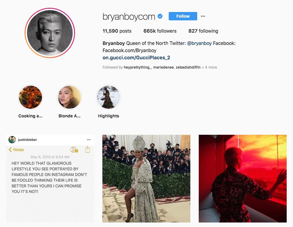 Bryanboy top online influencers
