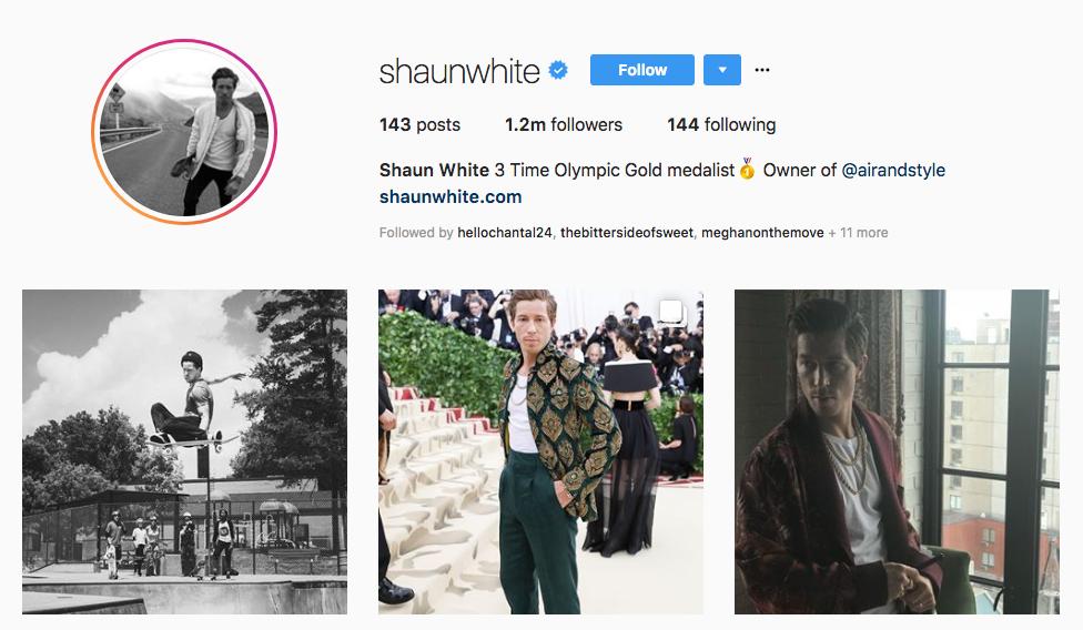 Shaun White top sports influencers
