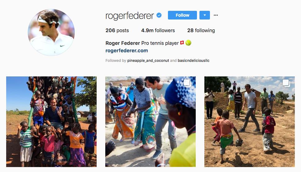 Roger Federer top sports influencers