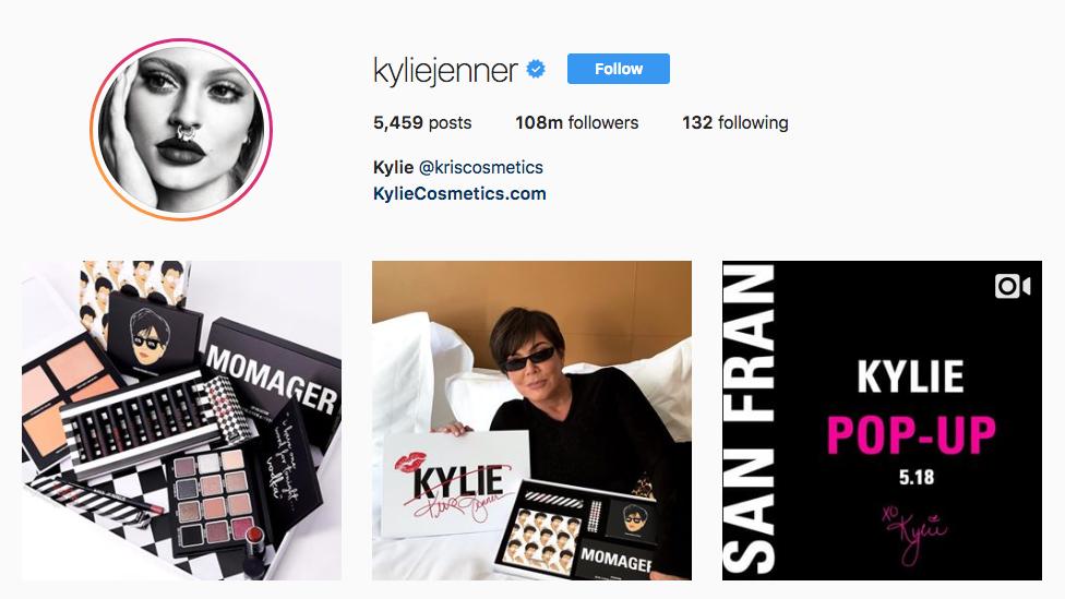 Kylie Jenner Top Beauty Vloggers