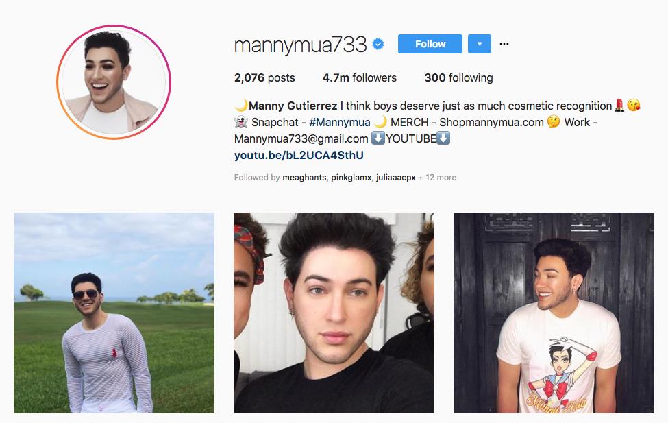 Manny Gutierrez Top Beauty Vloggers