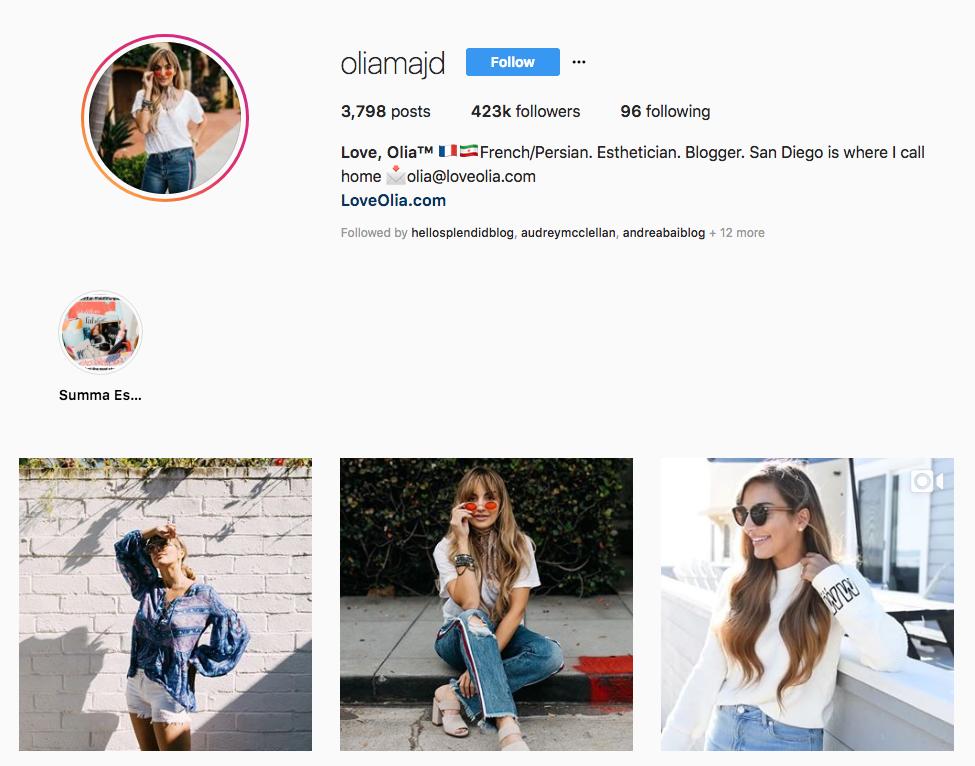 Love, Olia skincare influencers