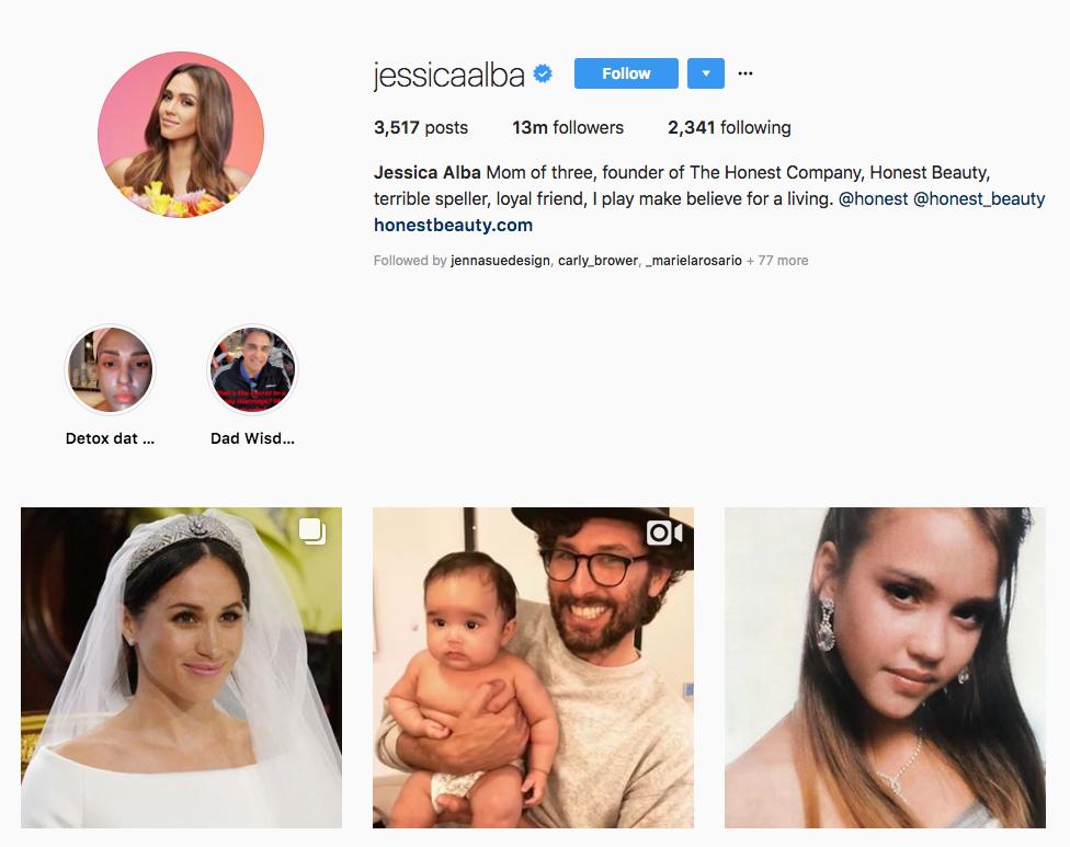 Jessica Alba skincare influencers
