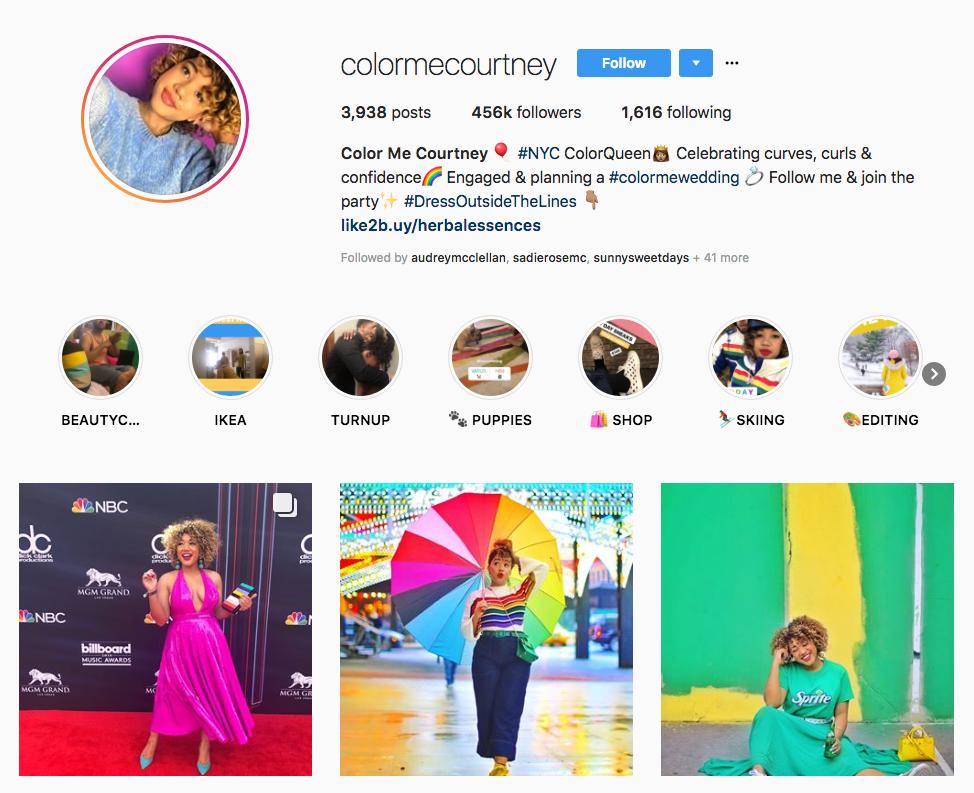 Color Me Courtney skincare influencers