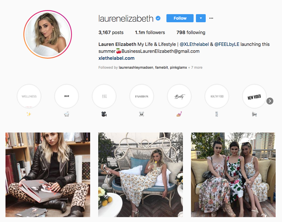 Lauren Elizabeth skincare influencers