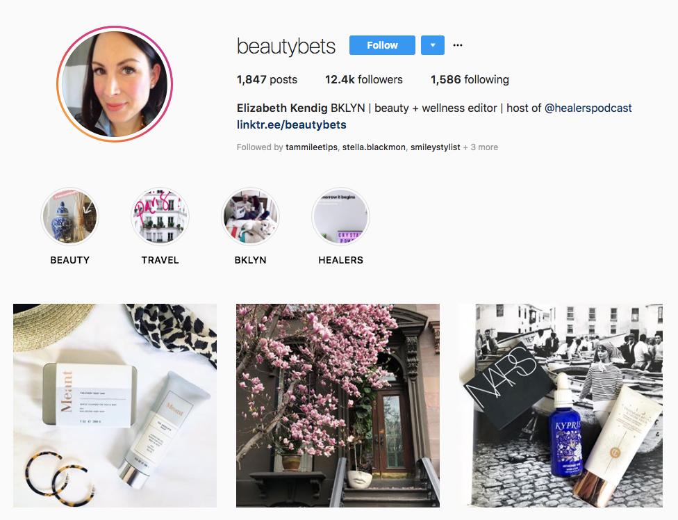 Elizabeth Kendig skincare influencers