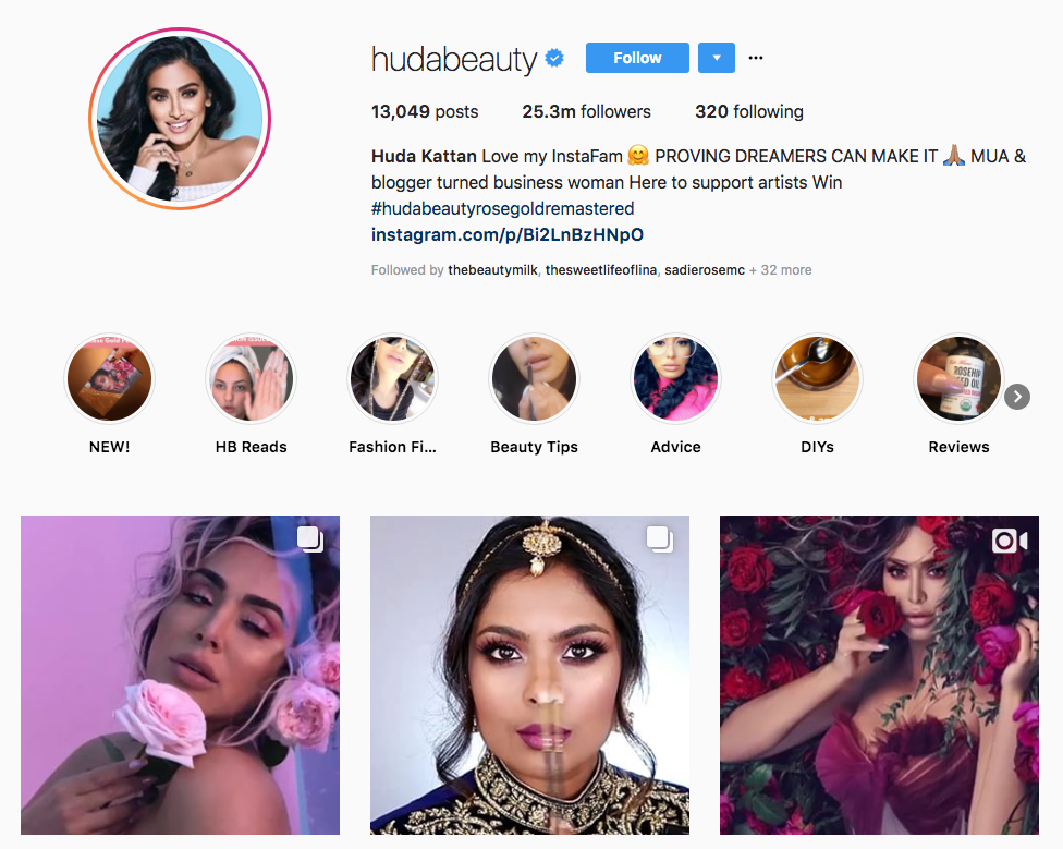 Huda Kattan skincare influencers