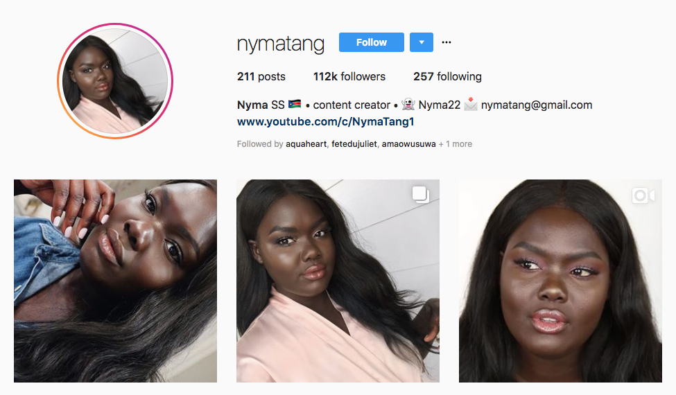 Nyma top beauty vloggers