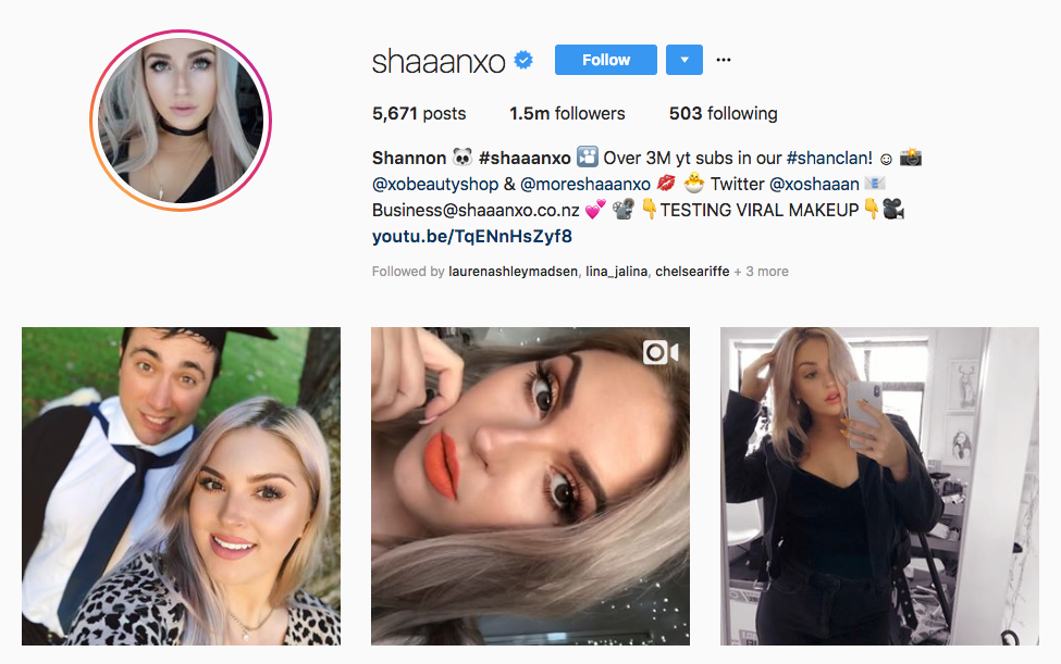 shannon harris top beauty vloggers