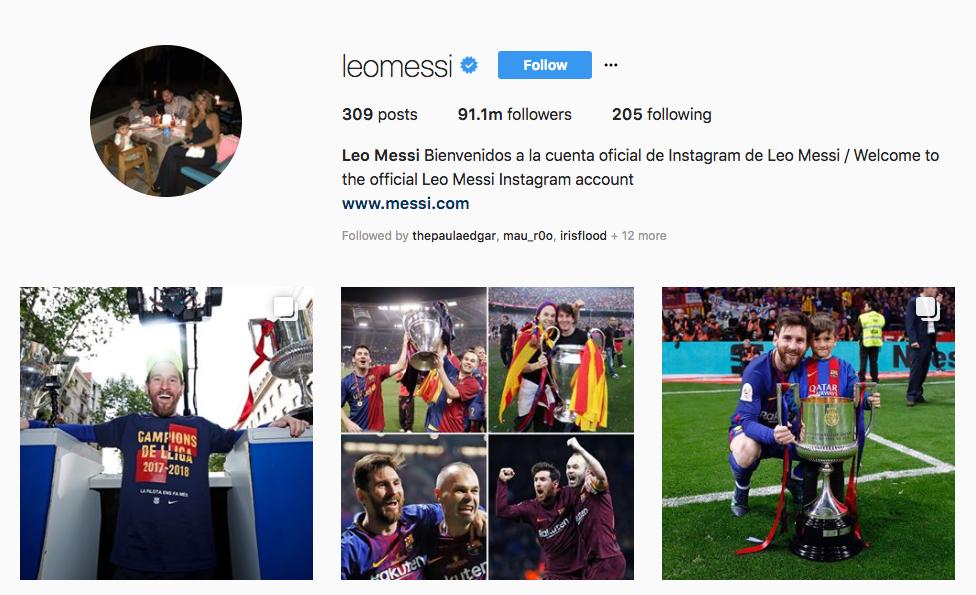 Leo Messi top sports influencers
