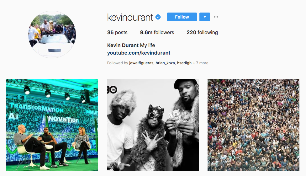 Kevin Durant top sports influencers