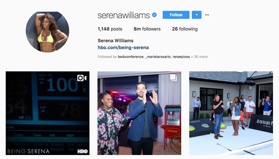 Serena Williams top sports influencers