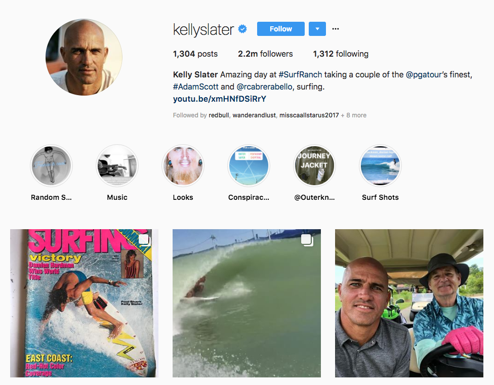 Kelly Slater top sports influencers