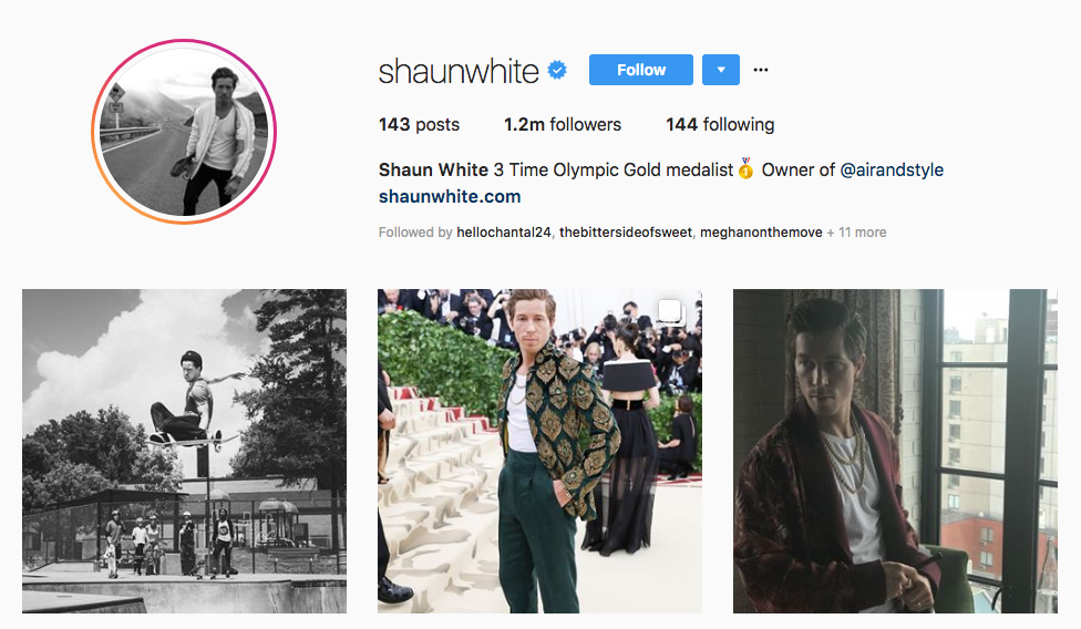 Shaun White top sports influencers