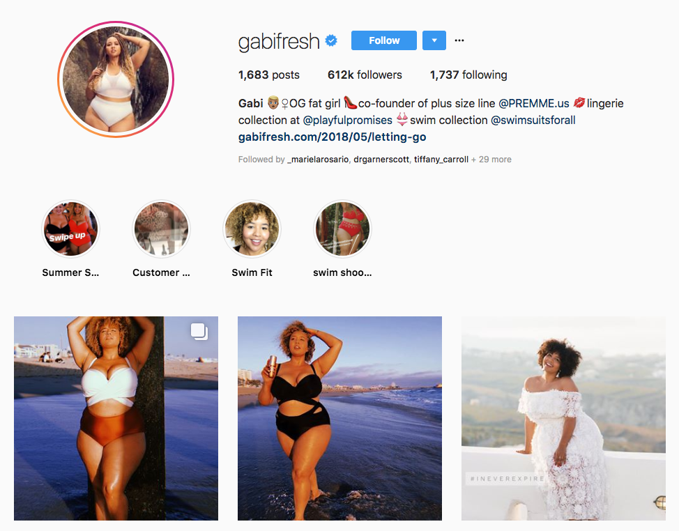 Gabi Fresh top online influencers