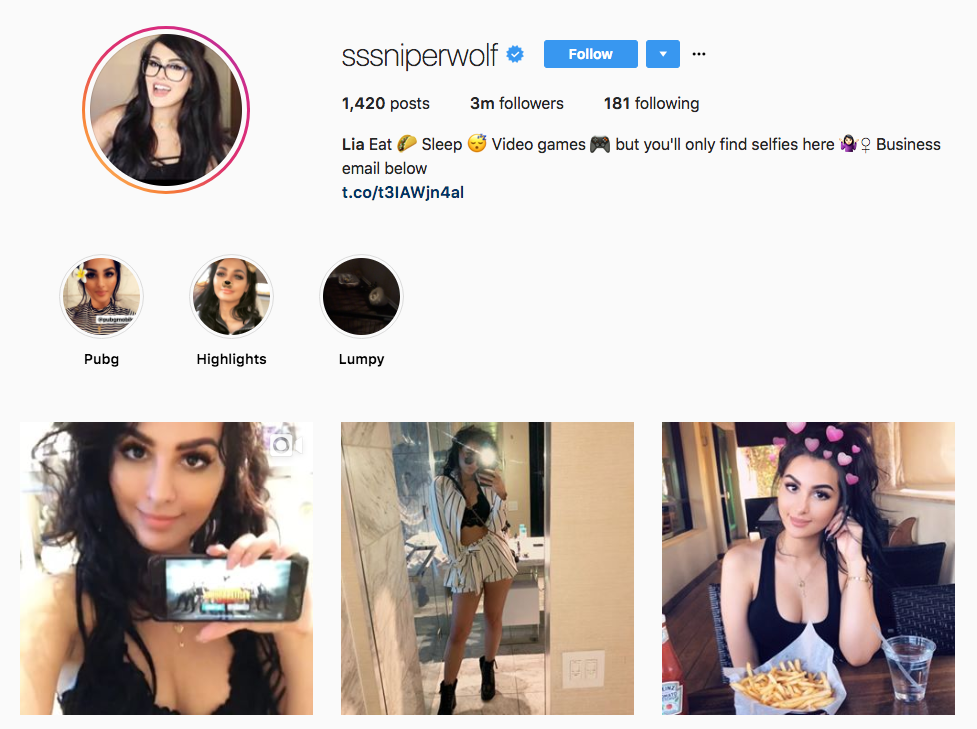 sssniperwolf top online influencers