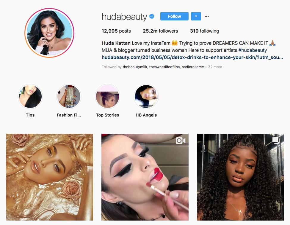 Huda Kattan Top Online Influencers