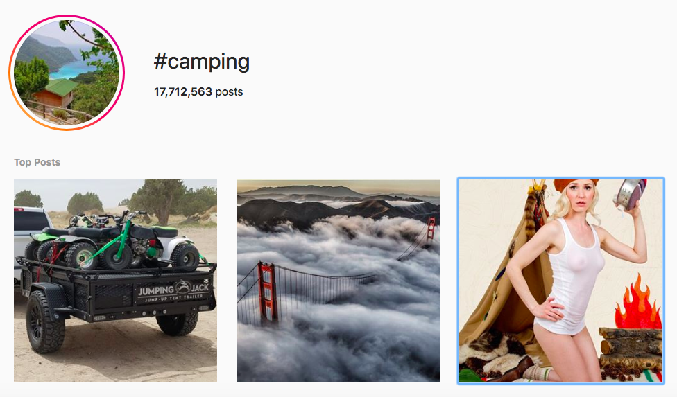best outdoor instagram hashtags #camping